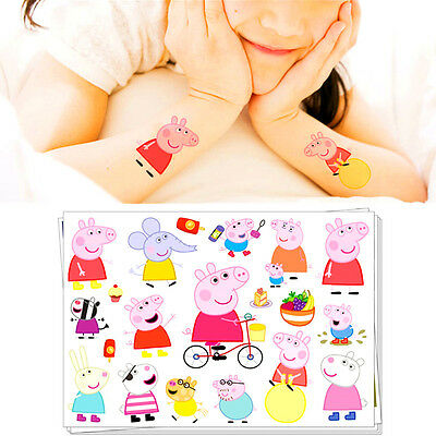 Peppa Pig Flash Tattoo Sticker Temporary Body Art Baby Toys Decorations Labels