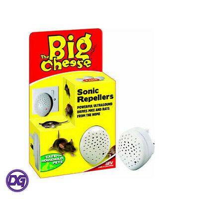 The Big Cheese Mouse & Rat Rodent Ultrasound Sonic Repellers 3 Per Pack