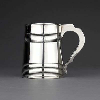 Antique George III Solid Sterling Silver Pint Tankard/Mug, J Phipps, London 1793