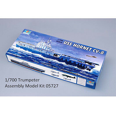 Trumpeter 05727 1/700 Scale USS HORNET CV-8 Plastic Boat Assembly Model Kits