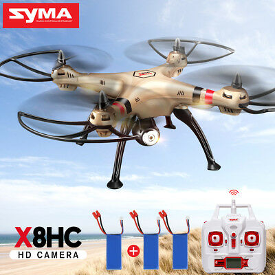 Syma X8HC 4CH RC Drone 2MP Camera Quadcopter Hovering Attitute + Extra Battery
