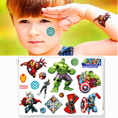 Superheros Union Cartoon Flash Tattoo Sticker Temporary Body Art Toys Boys Love