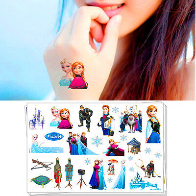 Frozen Princess Cartoon Flash Tattoo Sticker Temporary Body Art Toys Girls Love