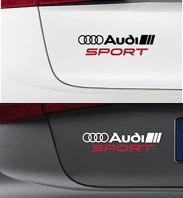 For AUDI - AUDI SPORT - VINYL CAR DECAL STICKER ADHESIVE -195 x 45mm