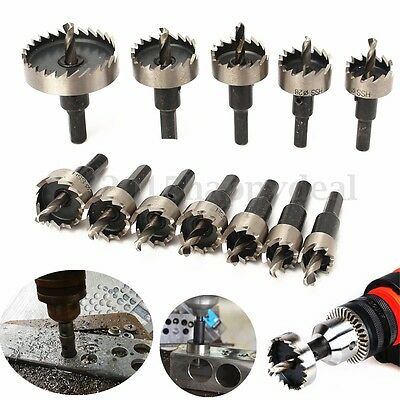 12Pcs Hole Saw Tooth Kit Drill Bit Set Cutter Tool For Metal Wood 15mm to 50mm