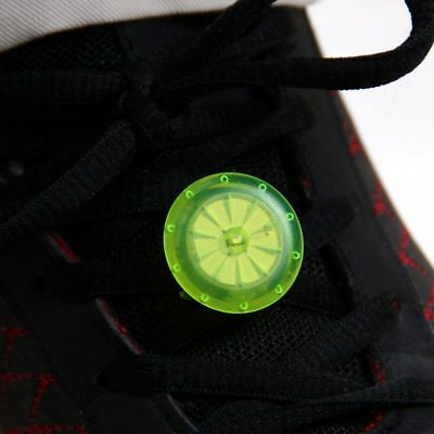 LED Luminous Shoe Clip Light Night Safety Warning Bike Running Sports Outdoor