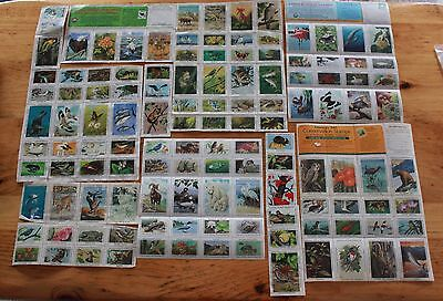 National Wildlife Federation Stamp Sheets Lot 1982, 1985-86, 1989 Conservation