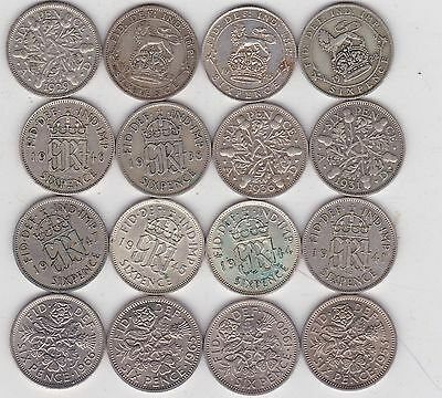 1922 To 1966 Six Pence Coins In Good Fine To Near Mint Condition