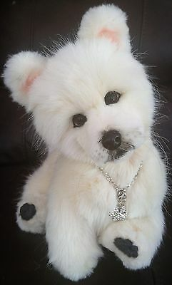 """15""""~OOAK~collectable~poseable~SAMOYED~puppy~dog~toy~bear"""