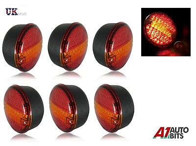 3 Pairs 24V Rear Led Lights Stop Tail Indicator Daf Man Scania Volvo 4 Function