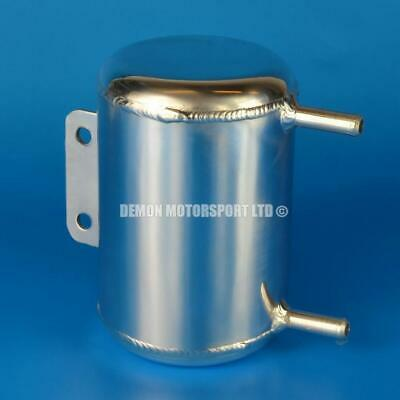 0.5 Litre Round Universal Polished Alloy Oil / Water Tank Can (2 x 10mm)