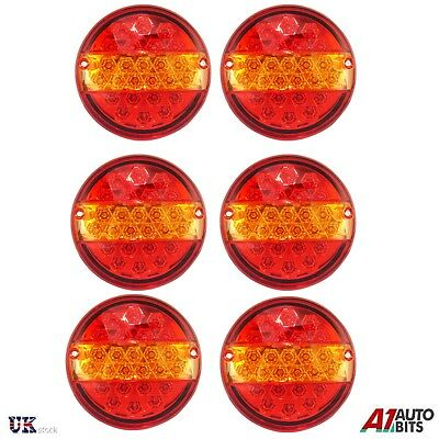 3 Pairs 24 Volt Led Tail Lights Hamburger Rear Lamps Truck Trailer Scania Volvo