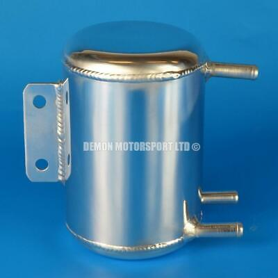 0.5 Litre Round Universal Polished Alloy Oil / Water Tank Can (3 x 10mm)