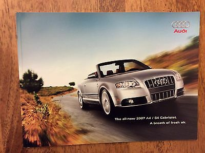 2007 Audi A4 S4 Cabriolet Sales Brochure New Never Circulated