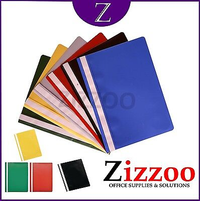 5 X A4 Project Report Files / Folders 2 Prong & Various Colours + Free P&p!