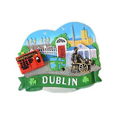 Dublin Magnet With The Temple Bar, Molly Malone, Spire And Ha'penny Bridge Desig