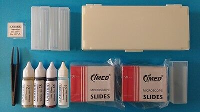Microscope Slide Starter Kit (with stains, immersion oil and mountant)