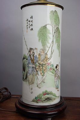20th C. Chinese Famille Rose Enameled Hat Stand