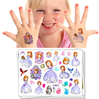 Sofia The First Princess Flash Tattoo Sticker Temporary Body Art Toys Girls Love