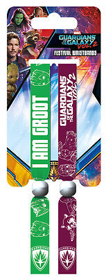Guardians of the Galaxy Vol. 2 Pack Of 2 Fabric Festival Wristbands BY PYRAMID
