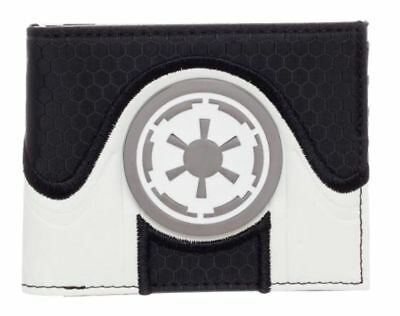Star Wars Galactic Empire Boxed Bi-Fold Wallet PU Leather Metal Badge The Rogue