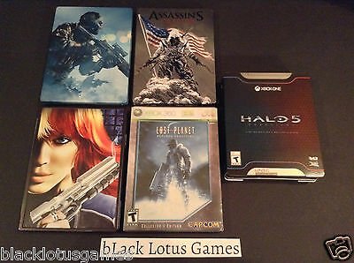 SteelBook Game Case Bundle Halo 5 Call of Duty NO Game Metal Limited Edition