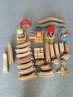 Wooden Railway Train Wood Track Bridge Lot Thomas Brio Compatible
