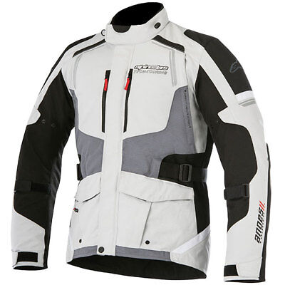 Alpinestars  Andes V2 Drystar Motorcycle Motorbike Textile Jacket - Light Grey