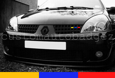 Renault Clio Sport 172 182 Grille Vinyl Stickers French RS Flag Sport Cup Trophy