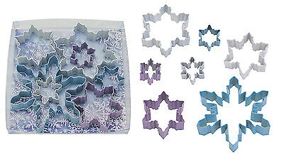 7 x Traditional Christmas Cookie Biscuit Pastry Cutters Snowflakes Designs