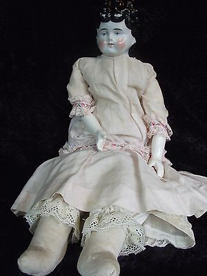 """19"""" Germany? china head and shoulders in antique & vintage clothing original?"""