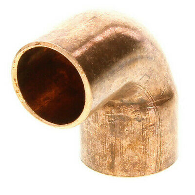 "1"" inch Street 90 degree Elbow Copper Sweat Spigot x Hub"