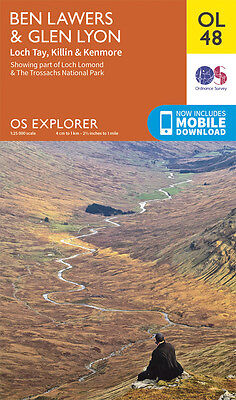BEN LAWERS & GLEN LYON Map - OL 48 - OS - Ordnance Survey  INC. MOBILE DOWNLOAD