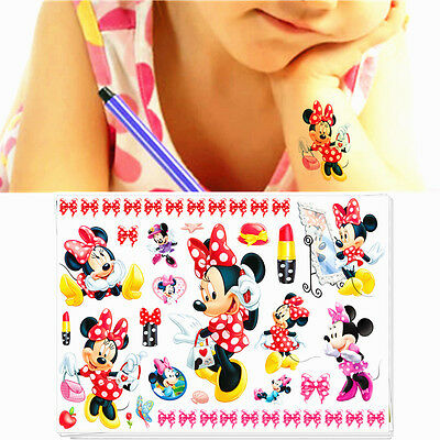 Kids Favourites Cartoon Flash Tattoo Sticker Water Transfer Temporary Body Art
