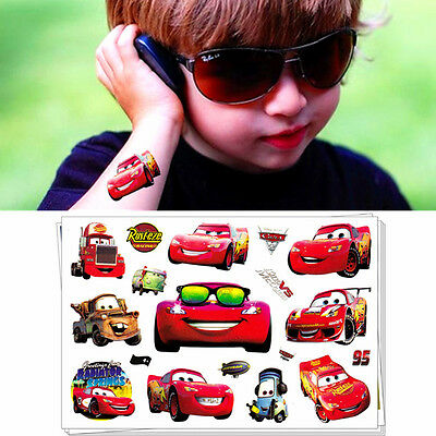 Kids Love Cartoon Flash Tattoo Sticker Toys Water Transfer Temporary Body Art