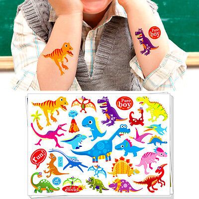 Dinosaurs Cartoon Flash Tattoo Sticker Toys Water Transfer Temporary Body Art