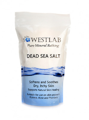 Dead Sea Salt - 500g, Pure Mineral Bathing Softens & Soothes Dry Skin - WestLab