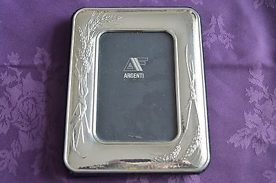 Solid Silver Picture Frame With Wheat Design, 925