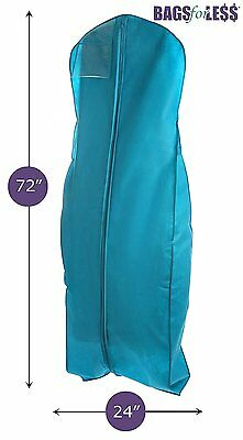 Water Resistant Storage Travel Wedding Dress Bridal Gown Garment Bag Turquoise