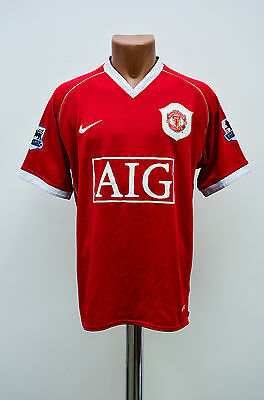 Manchester United England 2006/2007 Home Football Shirt Jersey Maglia Nike