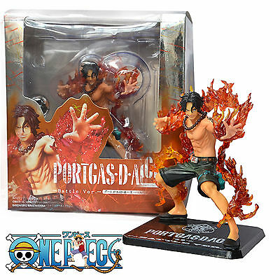 "One Piece Anime Portgas·D· Ace Battle Ver. 5.9"" PVC Figure Model Statue Toy Gift"