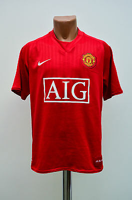 Size M Manchester United England 2007/2008/2009 Home Football Shirt Jersey Nike