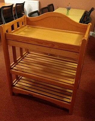 Mamas and Papas Baby Toddler Changing Table Unit Station Storage Wood