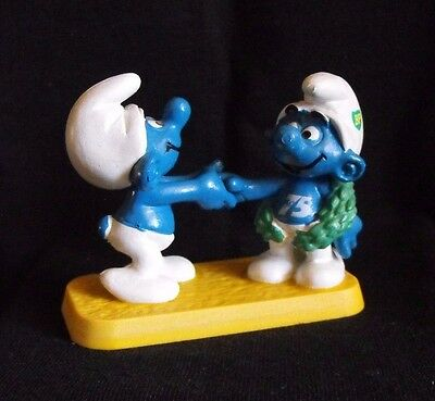 Smurf Schtroumpf Puffo Puffi Promo BP Congratulations ~ Schleich ~ W.Germany