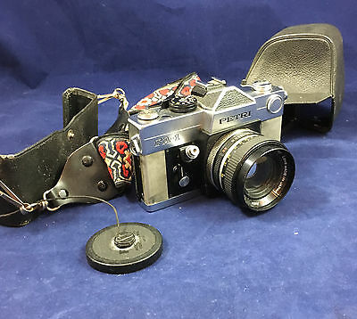 Petri FA-1 35mm SLR Camera w/ 55MM f1.7 LENS and case, unknown working condition