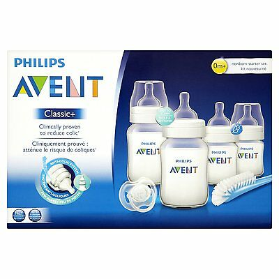 Philips Avent SCD371/00 Classic Plus Newborn Starter Set Kit Anti Colic NEW!!