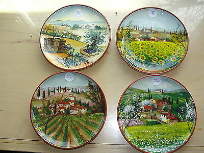 4 CMG Portugal Four Seasons Countryside Landscapes Salad Plates