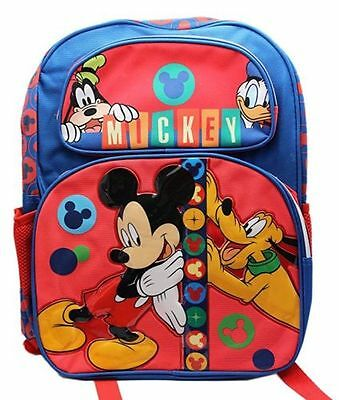 """Disney Mickey Mouse and Friends 16"""" Large School Backpack Bag"""