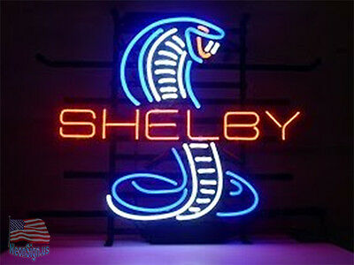 "Ford Cobra Shelby Mustang Neon Sign 17""x14"" From USA"
