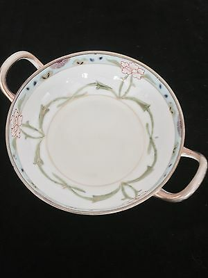 Hand Painted Nippon Double Handled Sweet Dish
